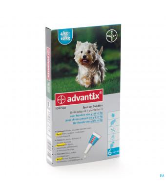Advantix 100/ 500 Honden 4<10kg Fl 6x1,0ml2764116-31