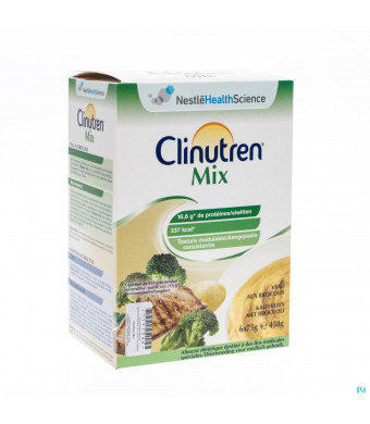 CLINUTREN MIX KALF BROCCOLI 6X75 G NF3026465-31