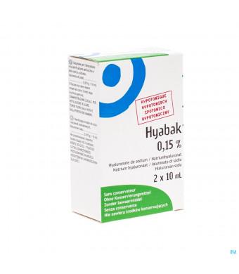 HYABAK COLL DUOPACK 2X10 ML3040326-31