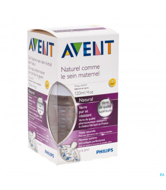 AVENT NATURAL ZUIGFLES GLAS 120 ML3049541-31