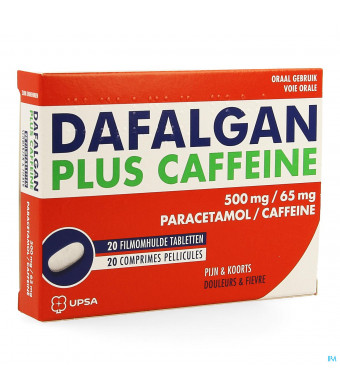 DAFALGAN PLUS CAFFEINE 20 TABL 500MG/65M3769627-31
