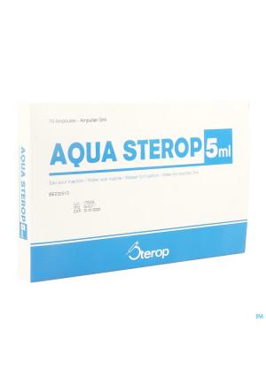 Aqua Sterop Pour Inj Solvens Amp 10 X 5ml0298778-20
