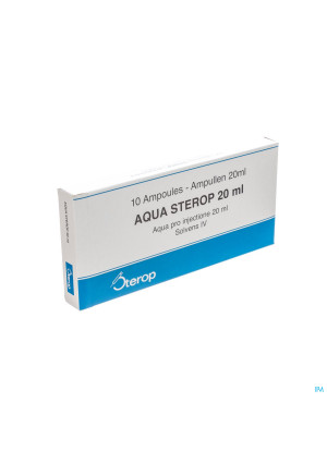 Aqua Sterop Pour Inj Solvens Amp 10 X 20ml0298794-20