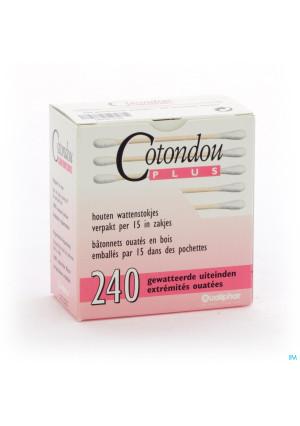 Cotondou Plus Wattestaafje Hout 1200606798-20