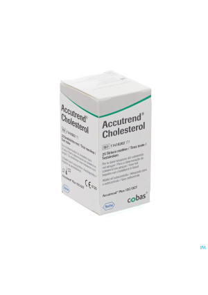 Accutrend Cholesterol Strips 25 114182621651015635-20