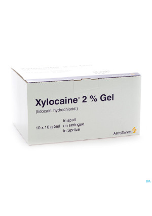 Xylocaine Gel Ser/spuit 10x10g 2%1064237-20