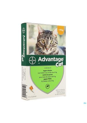 Advantage 40 Katten <4kg 4x0,4ml1357201-20