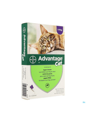 Advantage 80 Katten >4kg 4x0,8ml1357219-20