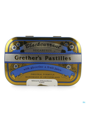 Blackcurrant Grethers Zonder Suiker Past 110g1389279-20