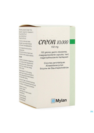 Creon 10000 Caps Maagsapresist Hard 100 X 150mg1481563-20