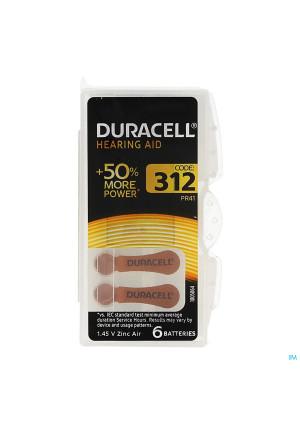 Duracell Easytab Hoorbatterij Da312 6 Bruin1656644-20