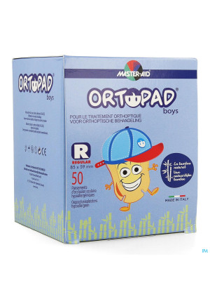 Ortopad Regular For Boys Oogpleister 50 733242131597-20