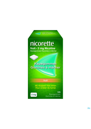 Nicorette Fruit Kauwgom 105x2mg2638328-20