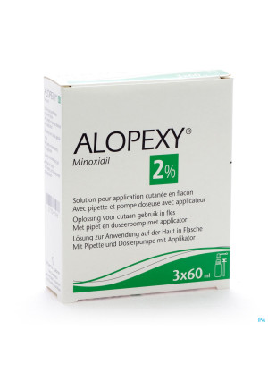 Alopexy 2 % Liquid Fl Plast Pipet 3x60ml2750198-20