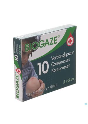 Biogaze 10 Verbandgazen 5 x 5 cm2764702-20
