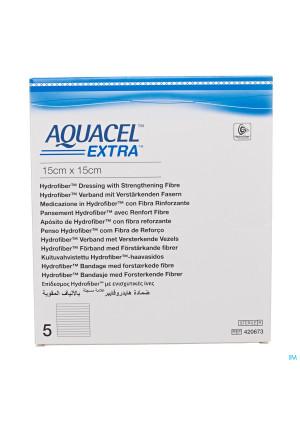 Aquacel Extra Verb Hydrofiber+versterk. 15x15cm 52881647-20