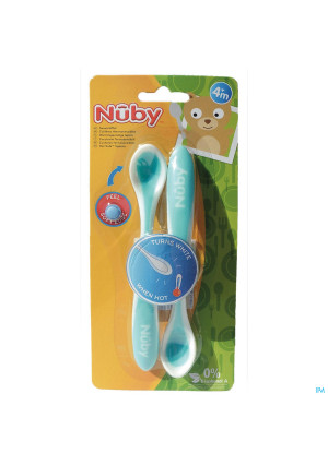 Nûby Patented Hot Safe™ Spoon 2p – 3m+2914695-20