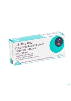 CETIRIZINE TEVA 7 TABL 10 MG NF3028032-20