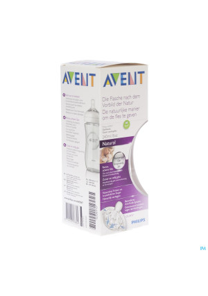 AVENT NATURAL ZUIGFLES GLAS 240 ML3049533-20
