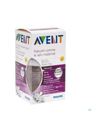 AVENT NATURAL ZUIGFLES GLAS 120 ML3049541-20