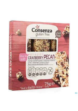 Consenza Notenreep Veenbes-pecan Z/glut.3x25g 54073076718-20