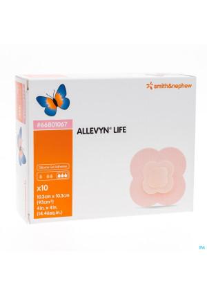 ALLEVYN LIFE 10,3X10,3CM 1067 10 ST3117041-20