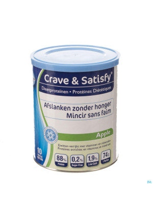 Crave and Satisfy Dieetproteinen Apple Pot 200g3130218-20