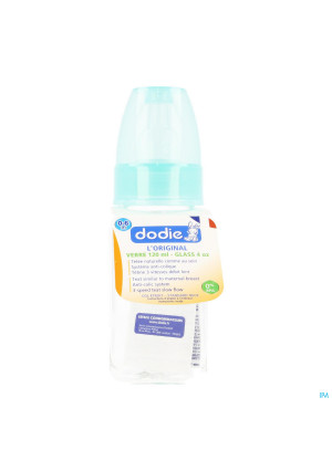 Dodie Zuigfles Glas Groen Anijs 1lftd 120ml3203130-20