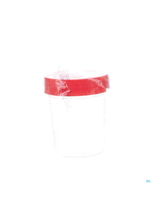 Urinepot Ster + Cap Rood 100ml 1 Fag3210622-20