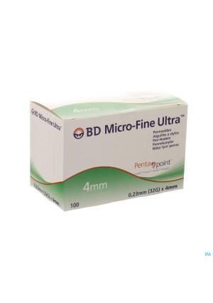 Bd Microfine Ultra Pennaald 4mm 32g Easyflow 1003247293-20