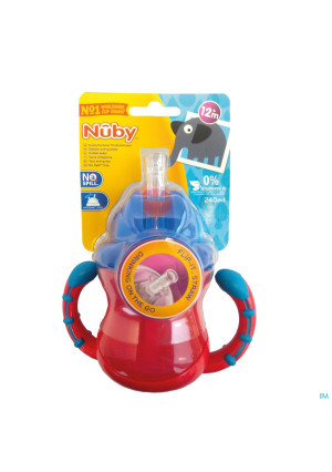 Nûby No-Spill™ Flip-It™ cup with handles 240ml 12m+3265113-20