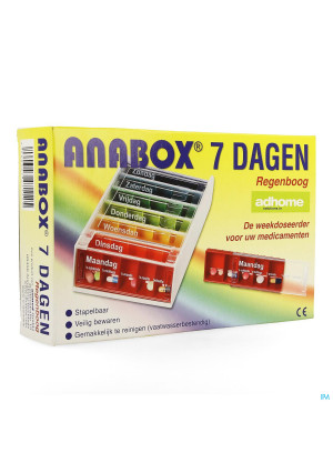 Boite Medicaments Anabox 7 X 5 Rainbow Fr3347994-20