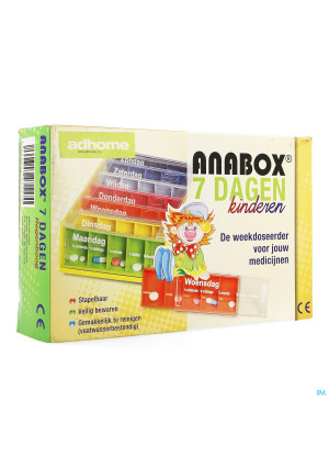 Kinderpillendoos Anabox 7x5 Rainbow Nl3348901-20