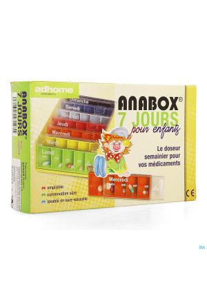 Kinderpillendoos Anabox 7x5 Rainbow Fr3348919-20
