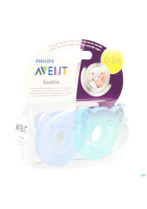 AVENT FOPSP SIL SOOTHIE 0-3M 2 ST3357977-20