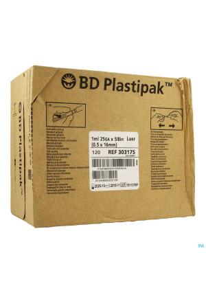 Bd Plastipak Spuit+nld Tuberculine 1ml+25g 5/8 1203393873-20