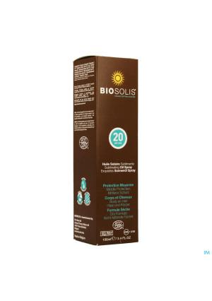 BIOSOLIS SUNOIL SPF20 SPRAY BIO 100 ML3421443-20