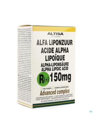 Altisa R(+)-alpha Liponzuur 150mg + C+e V-caps 453494267-20