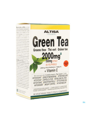 Altisa Groene Thee 2000mg (500mg Extract) Comp 903536919-20