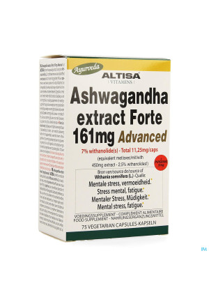 Altisa Ashwagandha Forte 161mg Advanced Caps 753679289-20