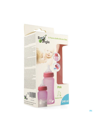 B-thermo Glass Bottle 240ml Pink3702388-20