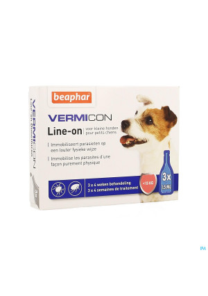 Beaphar Vermicon Line-on Kleine Hond 3x1,5ml3898137-20