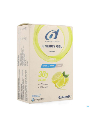 6d Sixd Energy Gel Lemon 6x40ml4167912-20