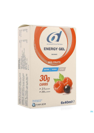 6d Sixd Energy Gel Red Fruits 6x40ml4167920-20