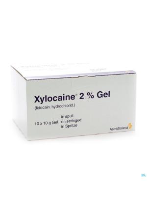 Xylocaine Gel Ser/spuit 10x10g 2%1064237-20