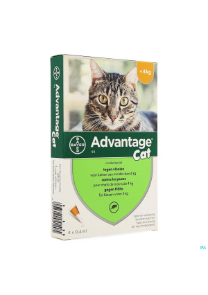 Advantage 40 Chats <4kg 4x0,4ml1357201-20