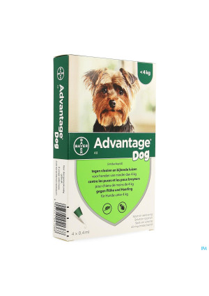 Advantage 40 Chiens <4kg 4x0,4ml1357227-20