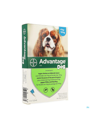 Advantage 100 Chiens 4<10kg 4x1,0ml1357235-20