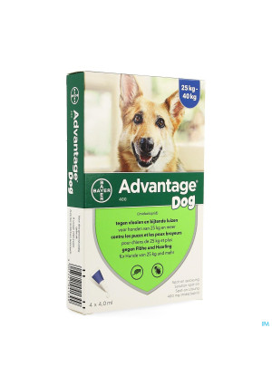 Advantage 400 Chiens 25<40kg 4x4ml1435981-20