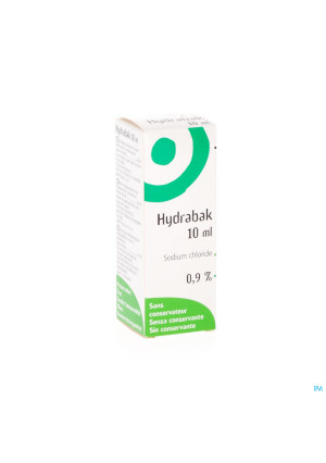 Hydrabak Collyre Hydratante Nacl S/conservat. 10ml1572403-20